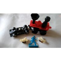 Гонка, паровозик, мотоцикл, солдатик, игрушки ссср