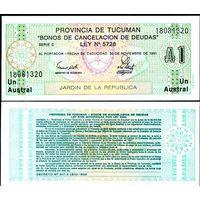 Аргентина (провинция Тукуман), 1 аустраль 1991 год, UNC