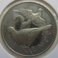 Британские Виргинские острова 5 центов 1973 г. В холдере (gk)