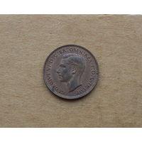 Великобритания, Георг VI (1936-1952), фартинг (1/4 пенни) 1943 г.