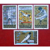 Кот- д Ивуар. Спорт. Олимпиада. ( 4 марки ) 1980 года.