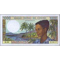 Коморские о-ва 1000 франков 1994 UNC