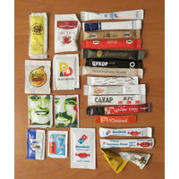 Глюкофилия. Сахар 25 пакетов из разных стран