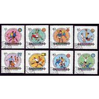 8 марок 1982 год Монголия Футбол 1467-1474