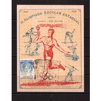 Бразилия-1950(Мих.)  Карточка , Спорт, футбол