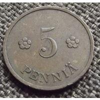Финляндия. 5 пенни 1938