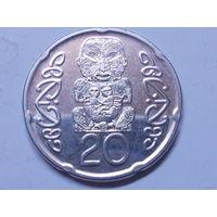 Новая Зеландия 20 центов 2014 г.Аукцион с 1.00 руб.