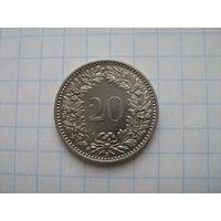 Швейцария 20 раппен 1911г.