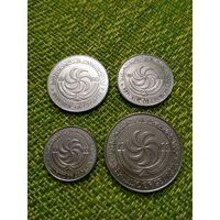 Грузия набор монет 4 шт 2,5,10,20 1993