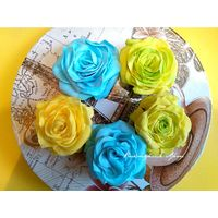 Радужные розы- зажимы