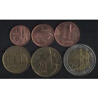 Азербайджан 1,3,5,10,20,50 гяпиков 2006 г. (к-т). Сохран!!!