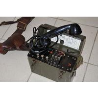 Американский военный проводной телефон взводно-ротного звена. Военная помощь СССР во время войны. Идеальный сохран.