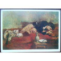 Вильгельм Лейбл. Спящий мальчик-савояр.  1980 г.