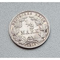 "Германия 1/2 марки, 1916 ""A"" - Берлин 7-10-37"