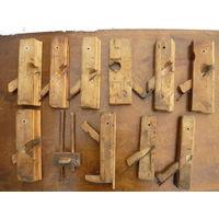 Старейший набор инструмента плотника столяра коллекция