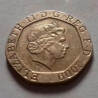 20 пенсов, Великобритания 2009 г.