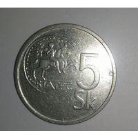 5 крон 1993, Словакия