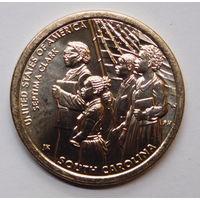 США.1 доллар 2020 Южная Каролина  Септима Кларк  Афроамериканцы Флаг. Американские  инновации 9-я монета UNC. Двор D