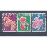 [471] Албания 1961. Флора.Цветы. Гашеная серия.