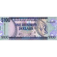 Гайана 100 долларов образца 2012 года UNC p36b(2)