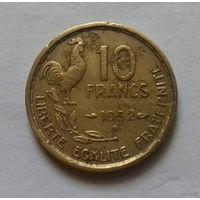 10 франков, Франция 1952 В