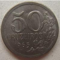 Бразилия 50 крузейро 1965 г.
