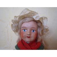 Старинная кукла. Папье-маше. Голова, руки, ноги на резинках. 28 см. Все родное.