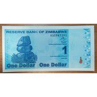 1 доллар 2009 года - Зимбабве - UNC