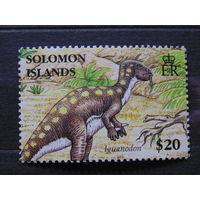 Соломоновы острова 2006 г. Динозавры /Игуанодод/.