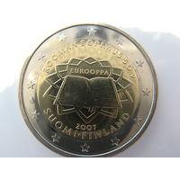 Финляндия 2 евро 2007 г. 50 лет подписания Римского договора. (юбилейная) UNC!