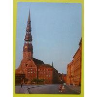 Рига. Церковь Петра. Чистая. 1976 года.