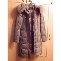 Пальто женское пуховик с капюшоном