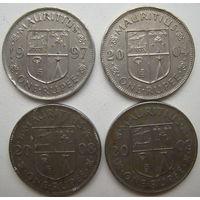 Маврикий 1 рупия 1997, 2004, 2008, 2009 гг. Цена за 1 шт. (g)