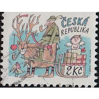 Чехия. 1993 г. Рождество. Рисунки детей. Новый год. Санта Клаус. Счастливого Рождества