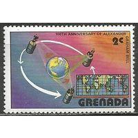 Гренада. 100 лет телефону. Космическая связь. 1976г. Mi#816.