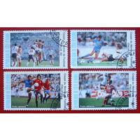 Кот- д Ивуар. Спорт. Футбол( 4 марки ) 1990 года.