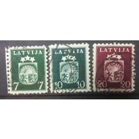 Латвия герб страны 1940 3 марочки