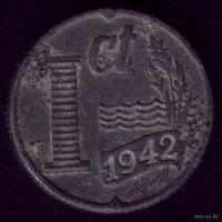 1 цент 1942 год Нидерланды