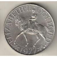 Великобритания 25 пенс 1977 Cеребряный юбилей царствования Елизаветы II