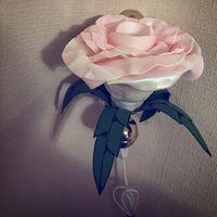 Настенное бра-светильник ручной работы в виде розы