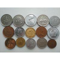 Сборный лот из 15 монет