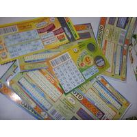 Лотерейные билеты (ваше лото, пятерочка, супер лото) МНОГО