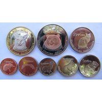 Южная Осетия набор 8 монет 1 копейка - 10 рублей 2013 год