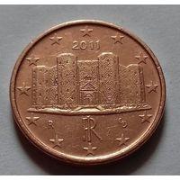1 евроцент, Италия 2011 г.