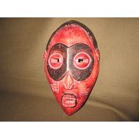 С 1 рубля!Африканская антикварная маска дерево высота 29 см
