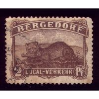 1 марка 1887 год Бергедорф 2