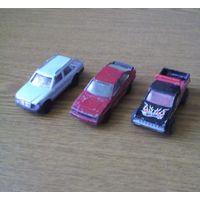 Модели автомобилей MATCHBOX, MAJORETTE, Hot Wheels. М:1/63/60/58: Audi Quattro 1982г., Mercedes 300 TE.