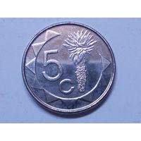 Намибия 5 центов 2015 г.Аукцион с 1.00 руб.