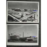 Солигорский калийный комбинат. Строительство. 9 фото 1960-х г. 12х18 см.