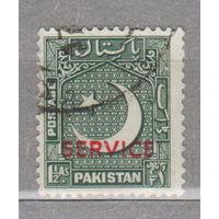 Пакистан  архитектура местные мотивы 1948-1954 год с над печаткой SERVICE лот 4